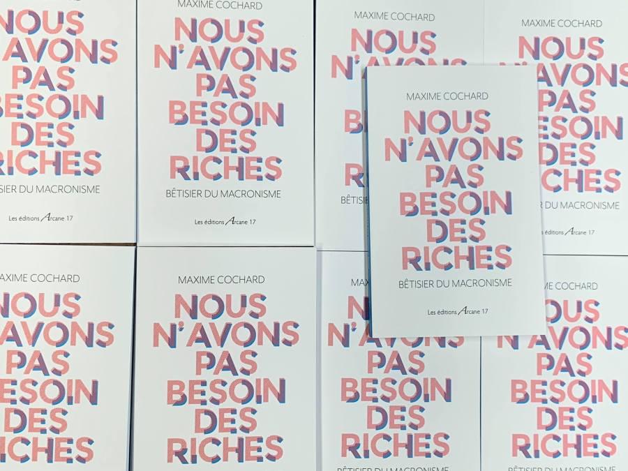Nouveau livre : « Nous n'avons pas besoin des riches », janvier 2020!