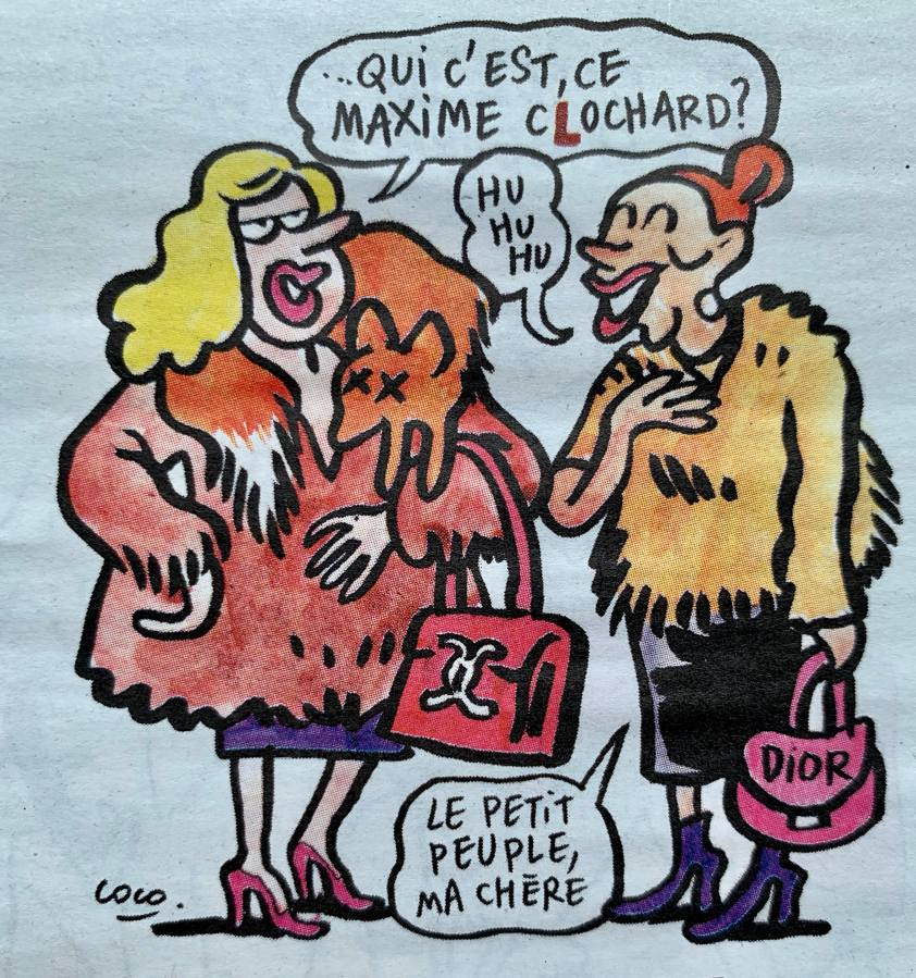 « Nous n'avons pas besoin des riches » dans CharlieHebdo